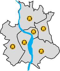 Carte Quartiers Toulousains