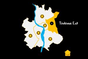 Carte Quartiers Toulouse Est