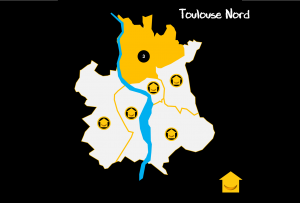 Carte Quartiers Toulouse Nord