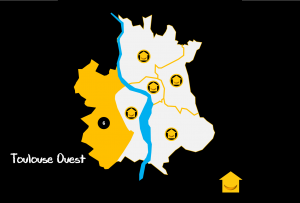 Carte Quartiers Toulouse Ouest