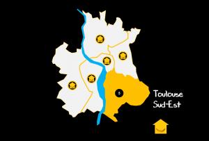 Carte Quartiers Toulouse Sud Est